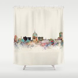 fresno skyline Shower Curtain