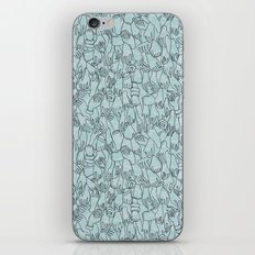 A Plethora of Relaxed Hands in Blue iPhone & iPod Skin