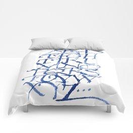 Calligraphy capitals Comforters