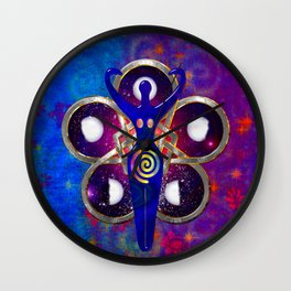 Cycles 3D Egyptian Goddess Wall Clock