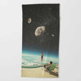Summer with a Chance of Asteroids Beach Towel