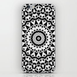 Black white ornament iPhone Skin