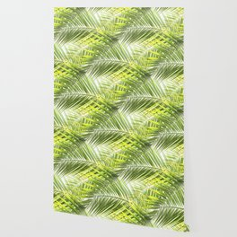 Palm leaves tropical illustration Wallpaper