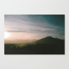 Smooth evening Canvas Print