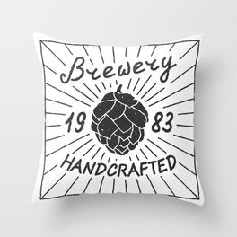 Brewery Handcrafted Fashion Modern Design Print! Beer style Throw Pillow