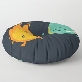 Impossible Love (fire and water kiss) Floor Pillow