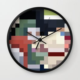Mm Pixel Food Wall Clock