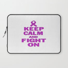 KEEP CALM AND FIGHT ON Laptop Sleeve
