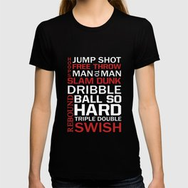Basketball Descriptive Funny Sports Vintage T-shirt T-shirt