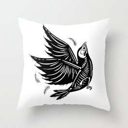 Bird Bones Throw Pillow