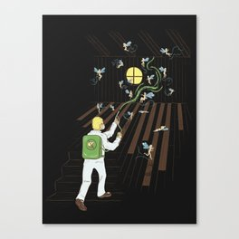 Just Another Day on the Job Canvas Print