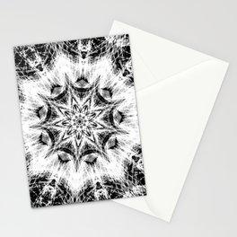 Atomic Black Center Swirl Mandala Stationery Cards