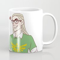 legolas Mugs featuring Hipster Legolas and Gimli by Nautilus Gifticus
