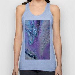 Purple Fluid Acrylic Abstract Painting - Slow Down  III Unisex Tank Top