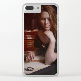 Victorian Lady Painting Clear iPhone Case