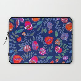 Pomegranate pattern electric blue Laptop Sleeve