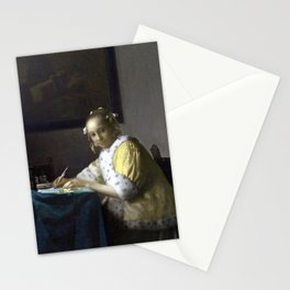 Johannes Vermeer A Lady Writing Stationery Cards