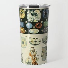 Vintage Minerals Chart Travel Mug
