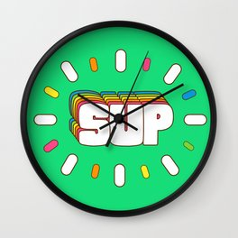 Sup! Colorful meme fun Wall Clock