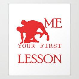 Funny Wrestling Coach Sports Graphic Art Print
