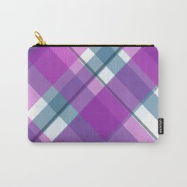 Purple Turquoise Plaid Carry-All Pouch