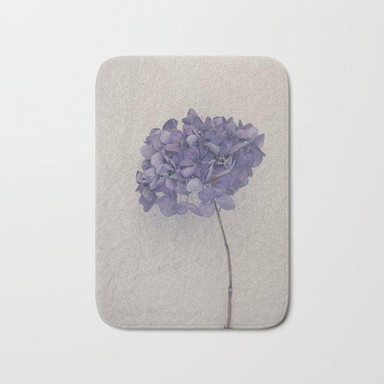 Dried Blue Hydrangea II Bath Mat