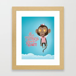 monkeys gone to heaven Framed Art Print