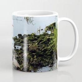 Herons on the river bank Coffee Mug