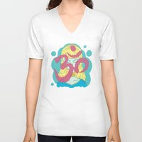 om V-neck T-shirts featuring Om by Monstruonauta