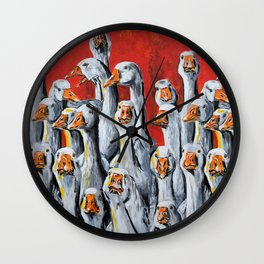 Gaggle of Geese Wall Clock
