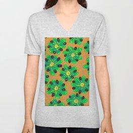 Green Desert Rose Unisex V-Neck
