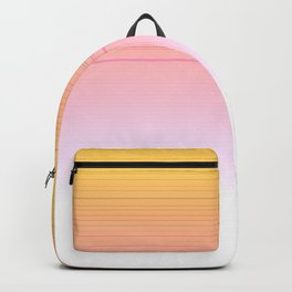 Gold with pink lines Backpack