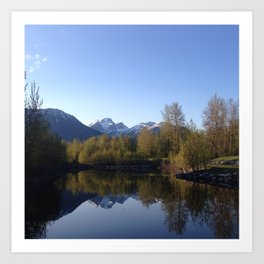 Three Sisters Reflection Art Print
