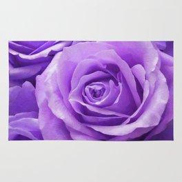 Violet roses Rug