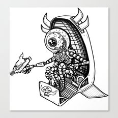 Alien Bounty Hunter in Space by RonkyTonk Canvas Print