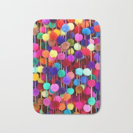 Rainbow Pom-poms (Vertical) Bath Mat