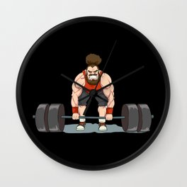 Weightlifting | Fitness Workout Wall Clock