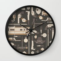 the walking dead Wall Clocks featuring The Walking Dead by Tracie Andrews