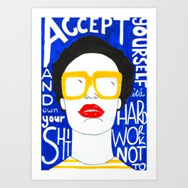 Accept Yourself Art Print