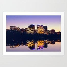 Rosslyn, Virginia dusk reflecting in the Potomac Art Print