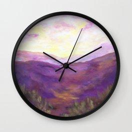 A Violet Landscape AC150625a Wall Clock