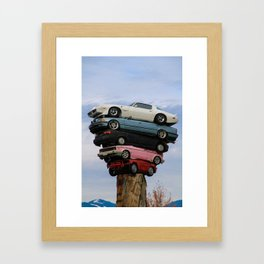 car pile Framed Art Print