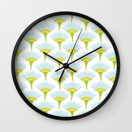 Watercolor flowers repeat pattern Wall Clock