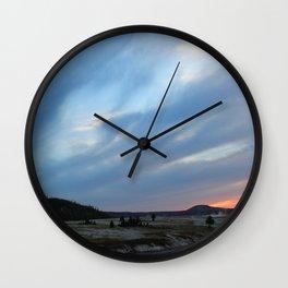Yellowstone Sunset Wall Clock