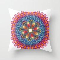 mandela Throw Pillows featuring Mandela by Casey Byars