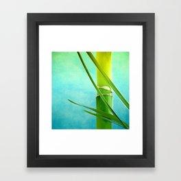 WELLNESS BAMBOO Framed Art Print