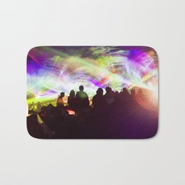 Laser show crowd Bath Mat