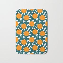 Art Deco Minimalist Orange Grove Bath Mat