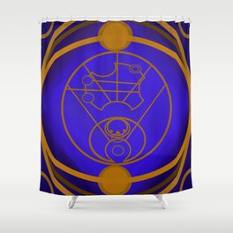 Dr. Who Inspired Art Piece Shower Curtain