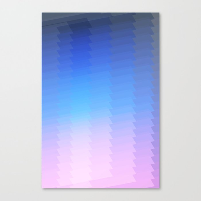 Blue Pink Ombre Color Grant Abstract Pattern Canvas Print